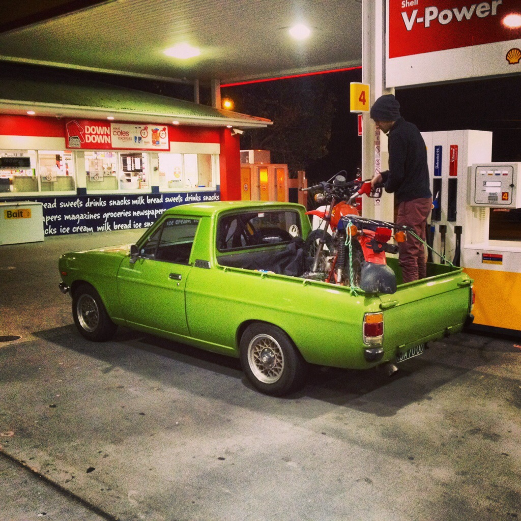 My 1980 Datsun 1200 Support Vehicle