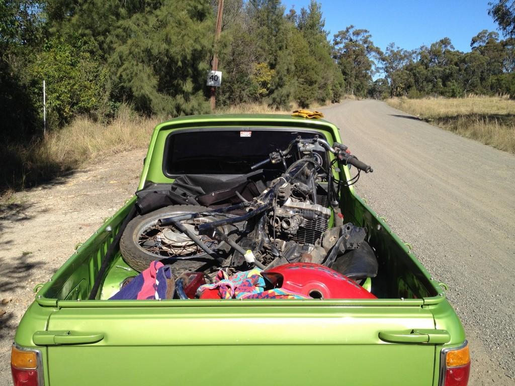 A tray full of loot - Jake's 1981 Honda CBX550 project.