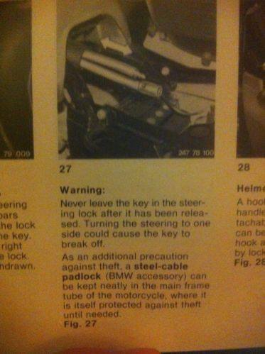 BMW R100 Manual Excerpt