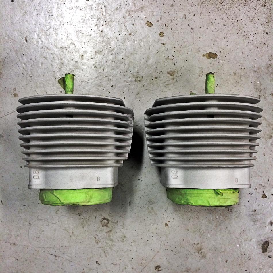 Cylinders Sandblasted