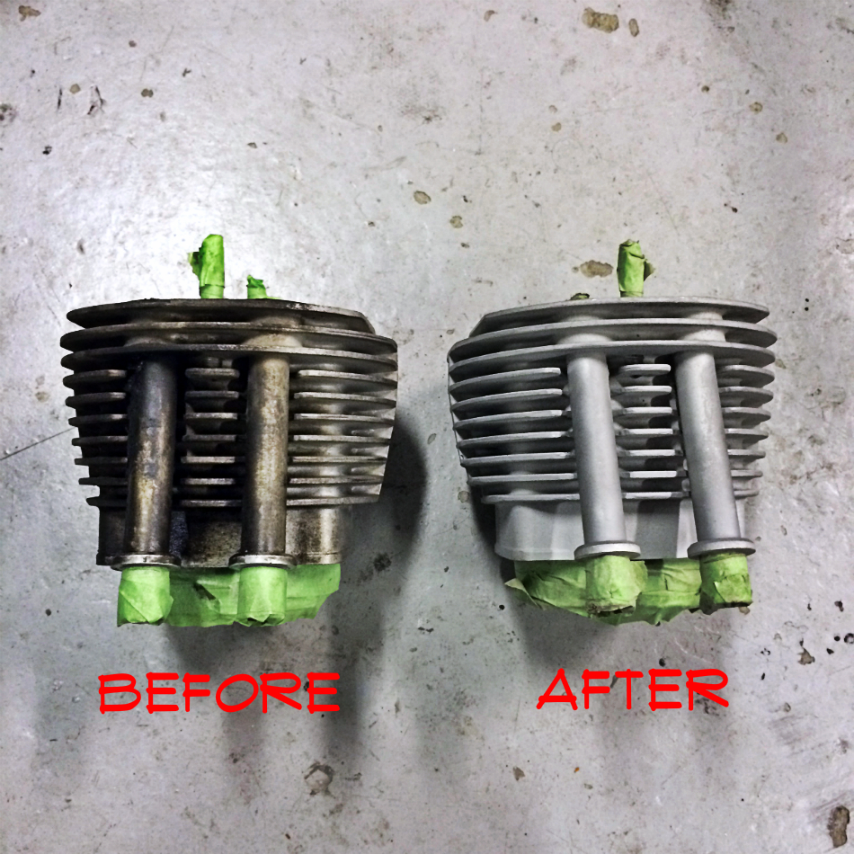 Cylinder Sandblasting Before & After