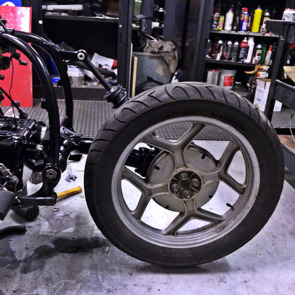 Rear Wheel Out In The Open