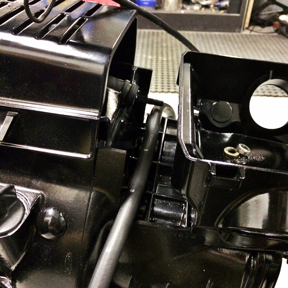 Fuel Balance Tube Positioned