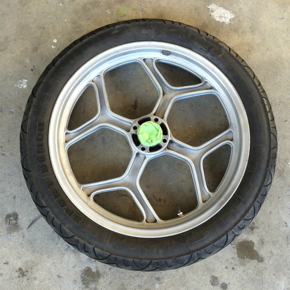 Paint Prepared Front Wheel