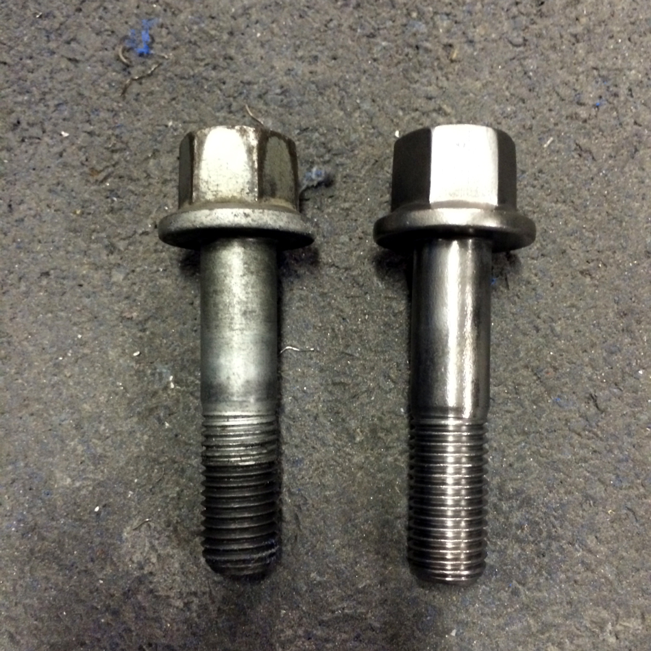 Rear Wheel Bolt Before/After Wire Wheel