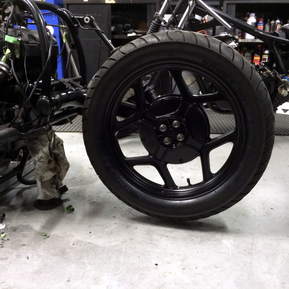 Rear Wheel Re-Fitted