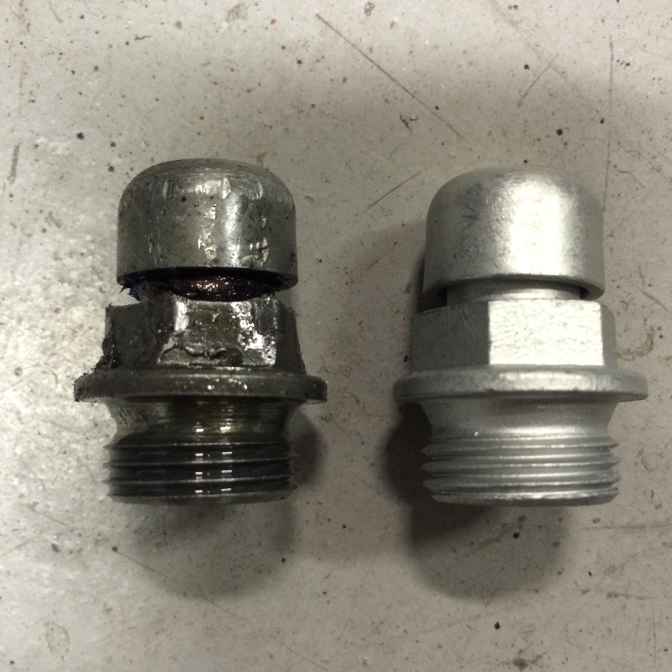 Replaced Bevel Drive Breather/Filler Cap