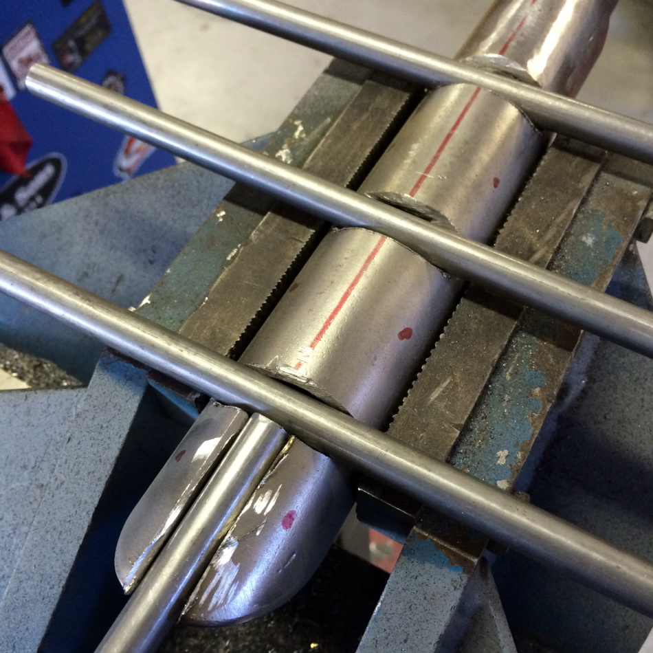 Crossbars Seated For Welding