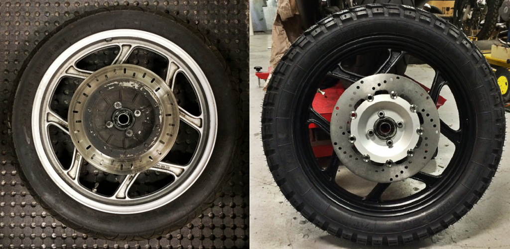 Old Tyres / Brake Discs vs. New