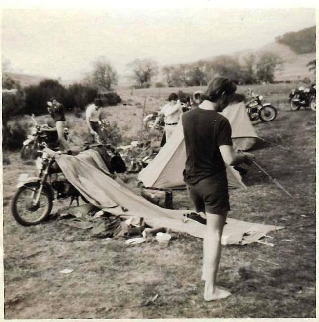 Sydney University Motorcycle Club's first camping trip, at Braidwood Caves, 1969